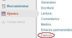 Ajustes favicon