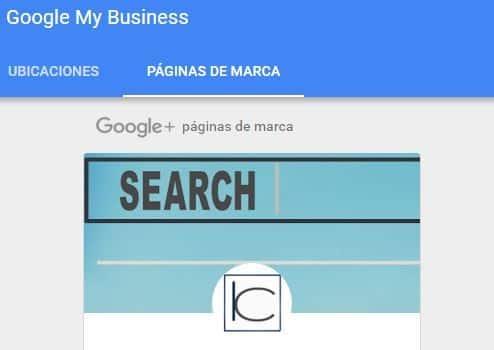 página principal de Google My Business