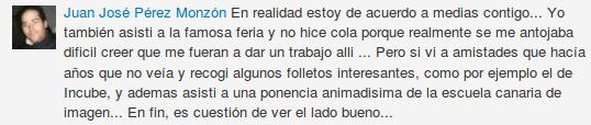 Comentario LinkedIn Juan Jośe Pérez