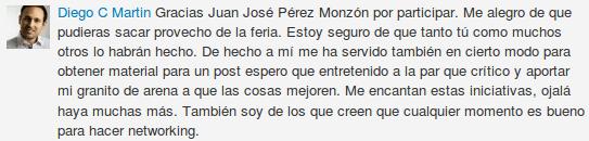 Comentario LinkedIn Diego C Martin