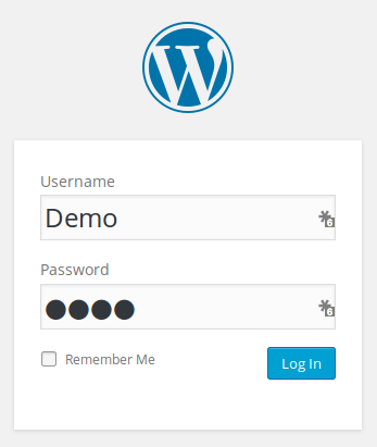 acceder a la demo de wordpress