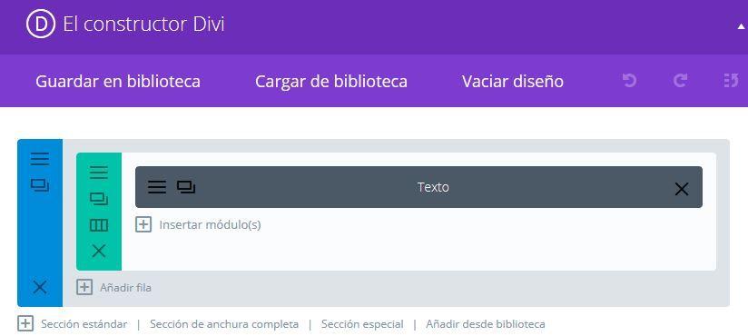 Constructor Divi para WordPress con elemento de texto automático