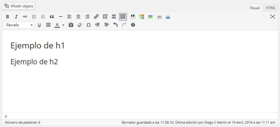 ejemplo de editor de texto web