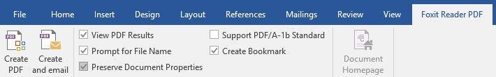 Componente PDF Word 2016