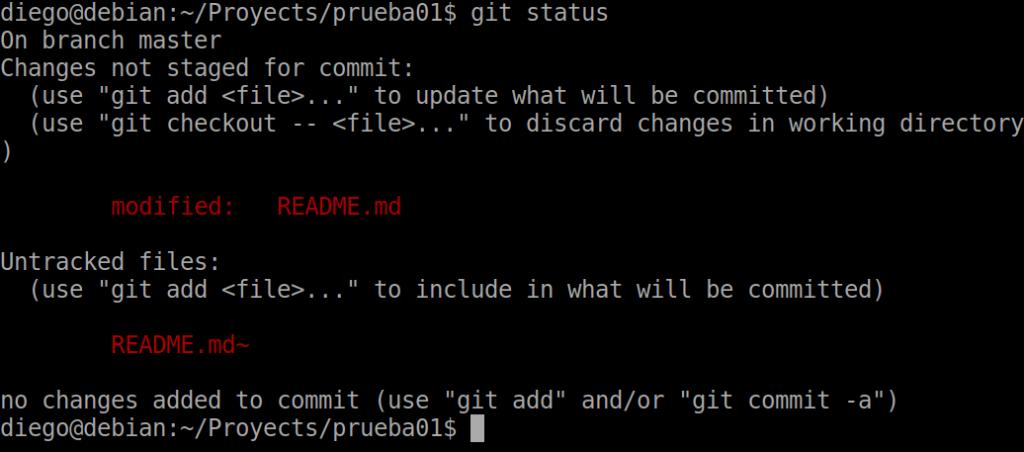 08 git status con archivos modificados
