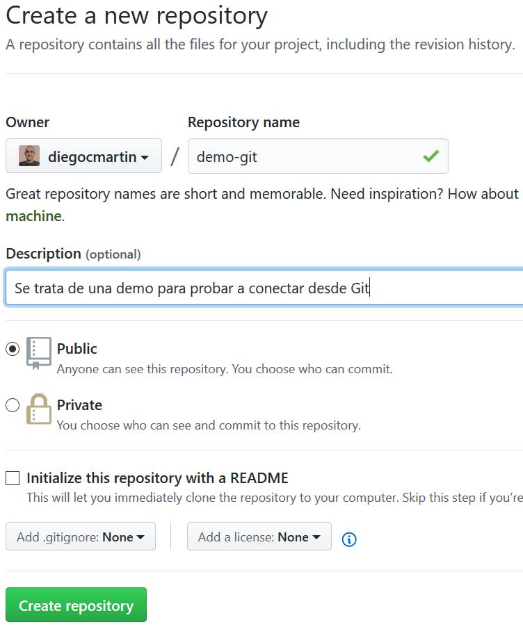 30 Creación de un nuevo repositorio en GitHub