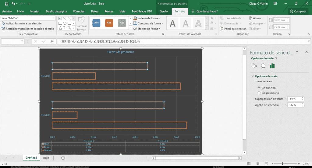 Aplicar formato a gráficos en Excel 02