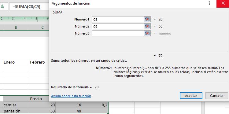 Funciones con el asistente de Libre Office 02