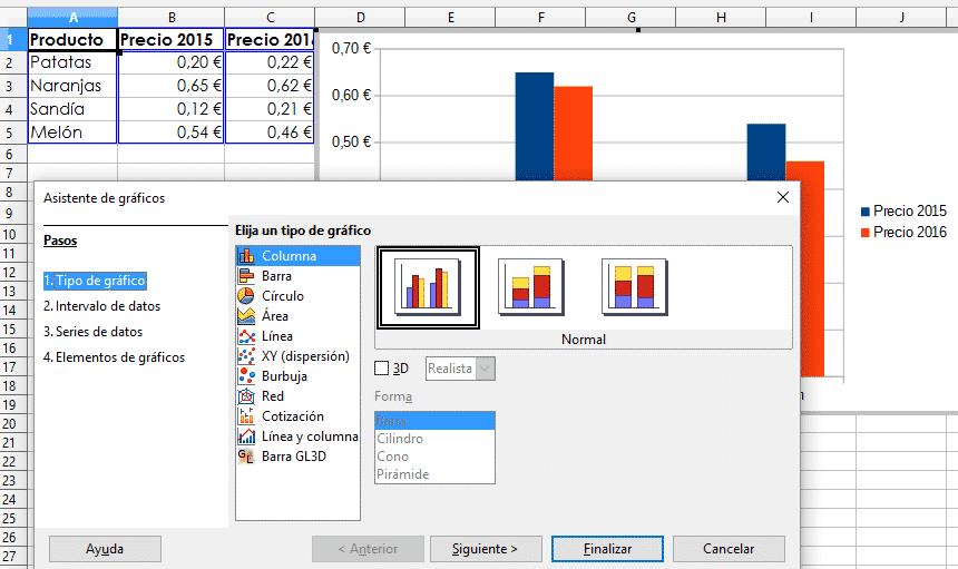Insertar gráfico Libre Office Calc 01