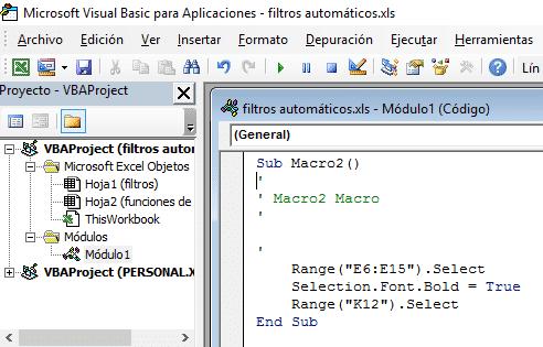 Programación de macros con VBA